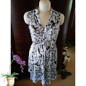 Simply Vera Wang Grey & White Dress